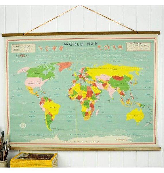 Mapa mundi vintage