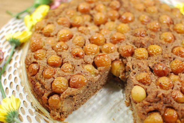 Cookies&Styles Mama wagte sich das erste mal an veganen Kuchen: Vollkornkuchen mit Kirschen aus dem Garten.