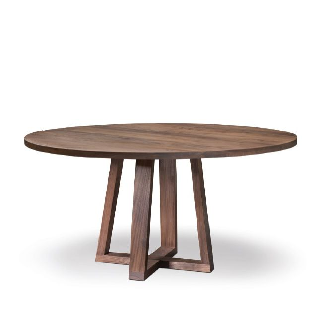 High Quality Restaurant Round Walnut Wooden Dining Table