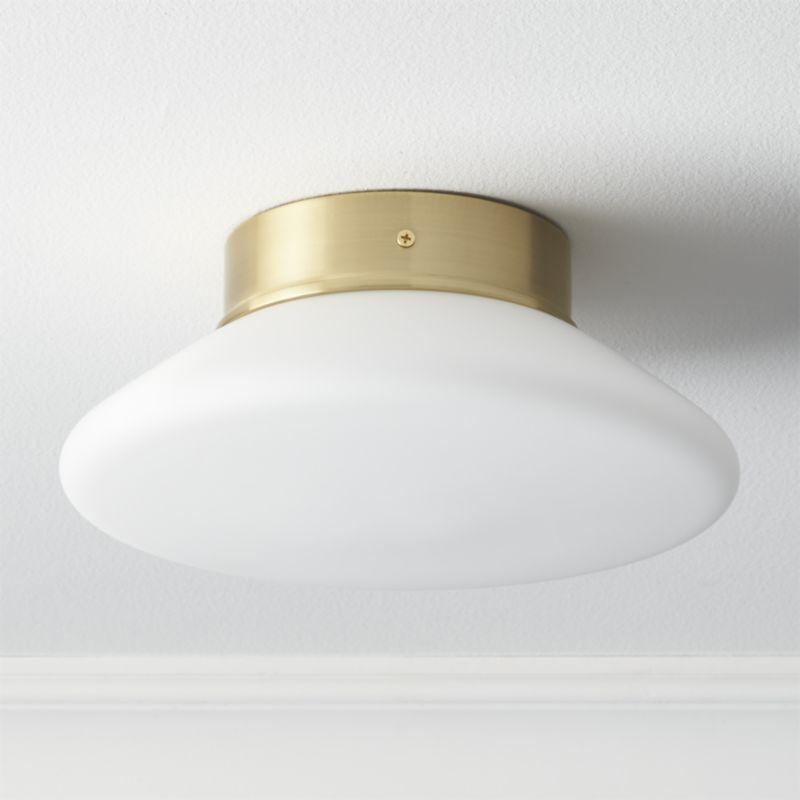 Bell White Flush Mount Light Reviews Cb2 Flush Mount