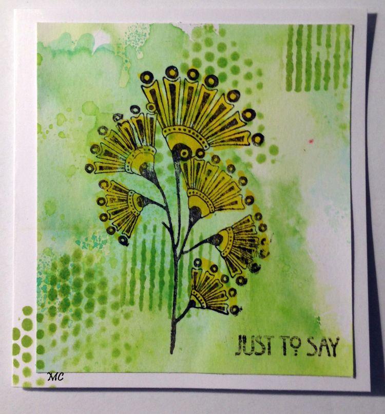 Chocolate Baroque Sketchy Doodle Landscape Stamp