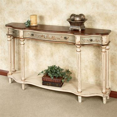 Hillcrest Wide Console Table Ecru