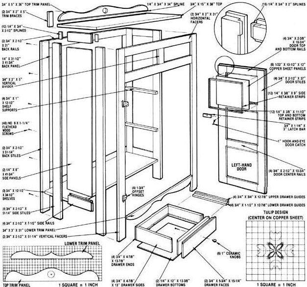 Do It Yourself Home Design: Build A Replica Antique Pie Safe - Do It Yourself
