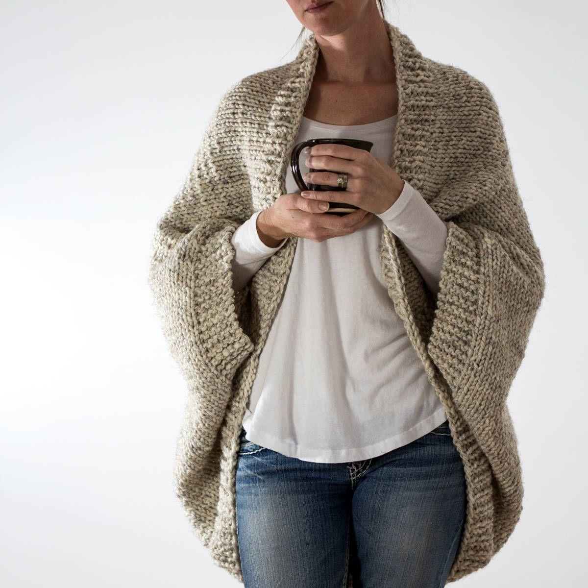 Knitting Pattern Oversized Scoop Sweater Knit