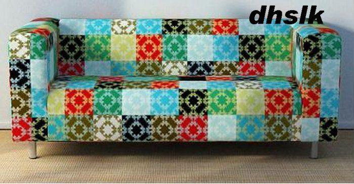 Superb Ikea Klippan Loveseat Sofa Slipcover Cover Lappmon Patchwork Machost Co Dining Chair Design Ideas Machostcouk
