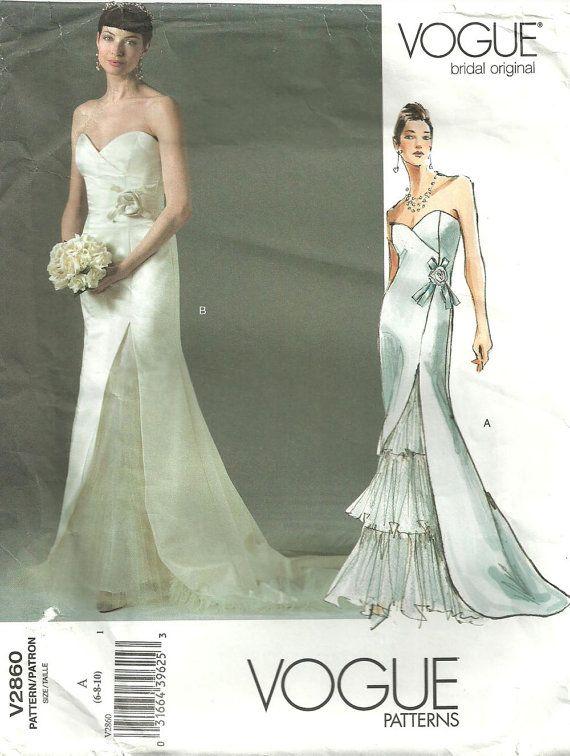 Vogue 2860 Bridal Original Sewing Pattern | Nähprojekte
