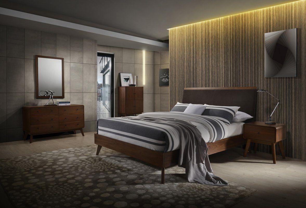 Tanya Mid-Century Platform 4 Piece Bedroom Set | House Ideas ...