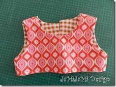 Photo of double woven garment top with button placket at the back