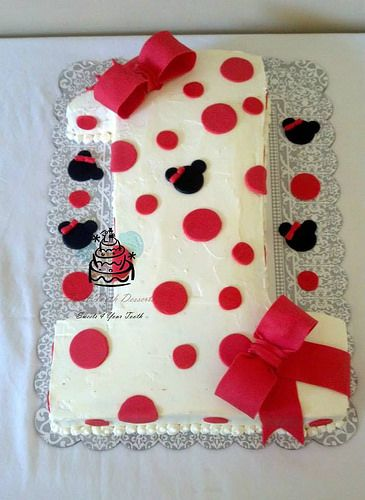 Number 1 Minnie Mouse Birthday Cake In 2019 Minnie Mouse Ideas For