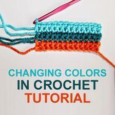 How to Change Yarn in Crochet - Easy Crochet