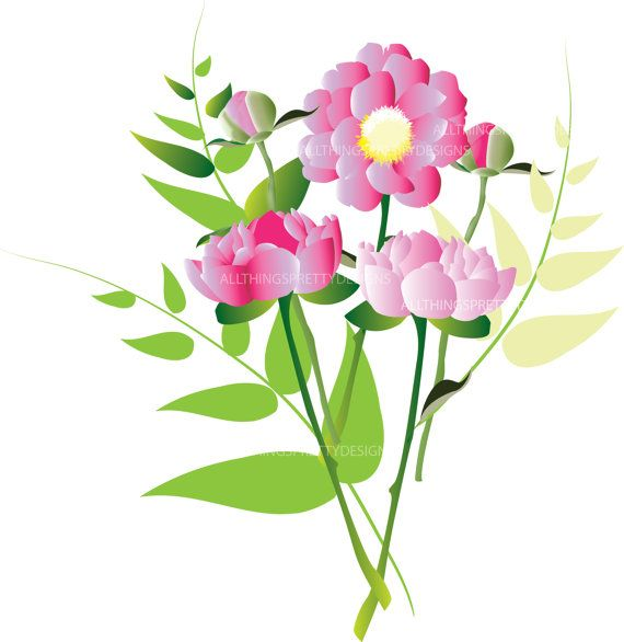 floral clip art peonies clip art peony digital clipart pinterest rh pinterest com pony clip art free pony clip art silhouette