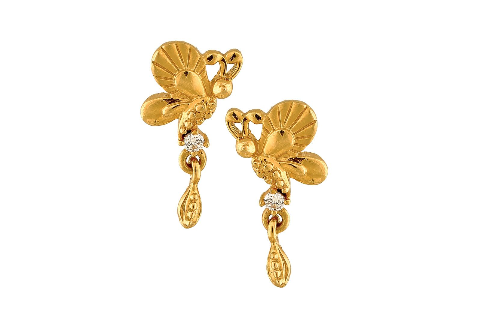 bdaa70e83 Bis hallmarked 22 carat gold earrings , sale price : 5803 , original price  : 6150, visit our website www.nnjewels.com for earrings below rs.10,000