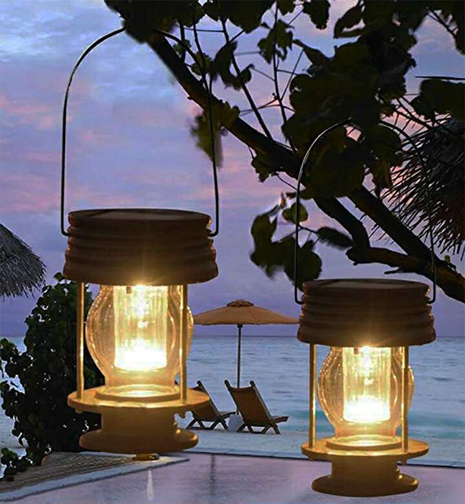 Amazon Com Pearlstar Multifunctional Solar Led Hanging Umbrella Lantern Lights 2 Pack Ga Hanging Solar Lights Outdoor Solar Lanterns Outdoor Pathway Lighting