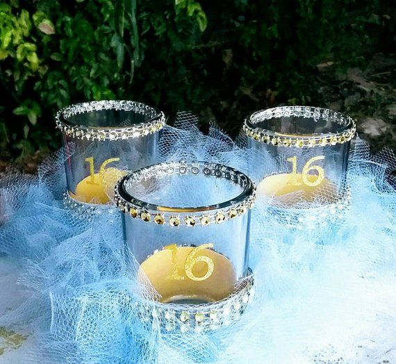 Sweet 16 party decorations, Sweet 16 gift,  Sweet 16 party favors, Sweet 16 centerpiece, Sweet 16 ca #sweet16centerpieces