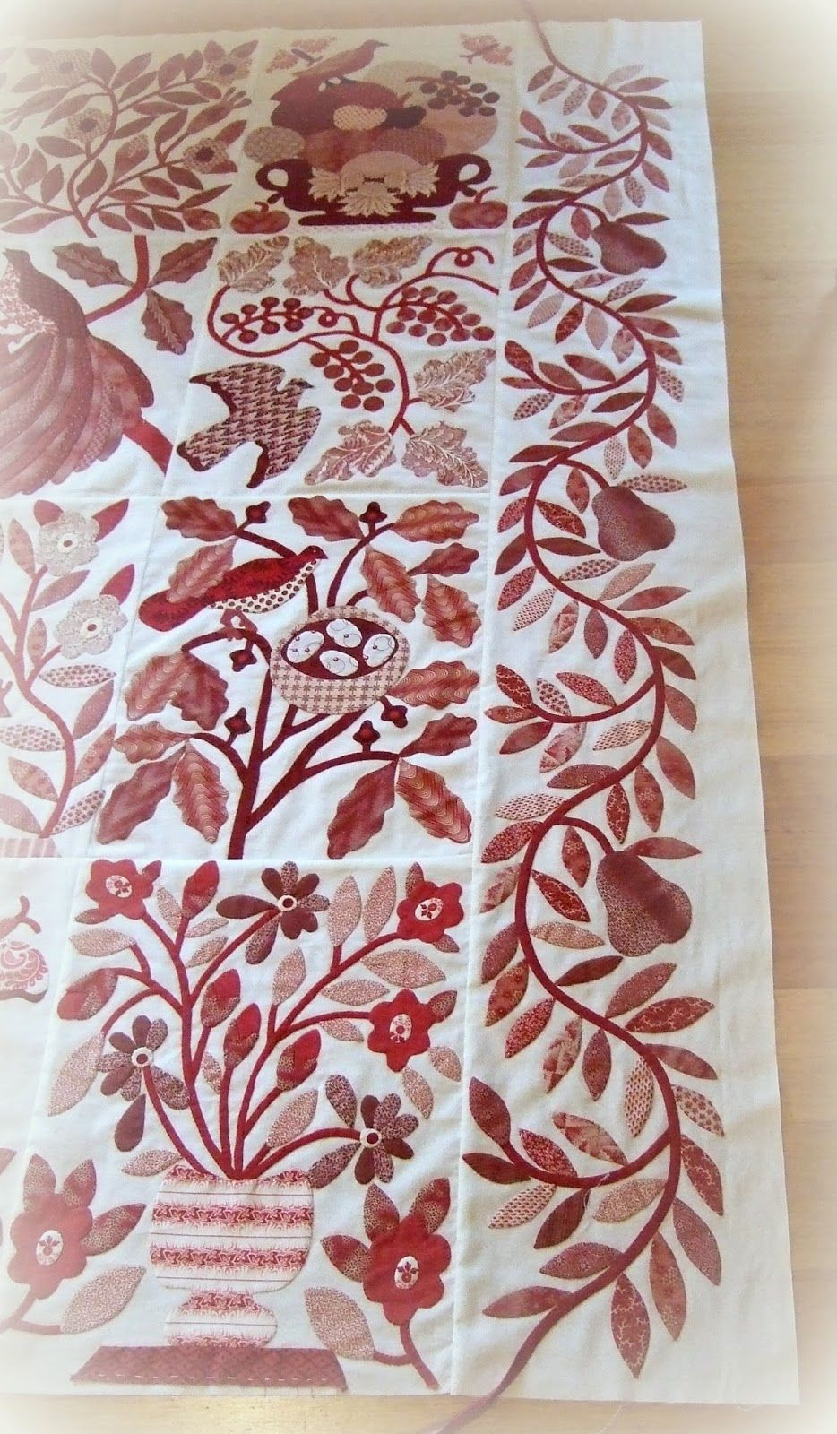 Every Stitch: Harrison Rose first block   Quilts   Pinterest ...