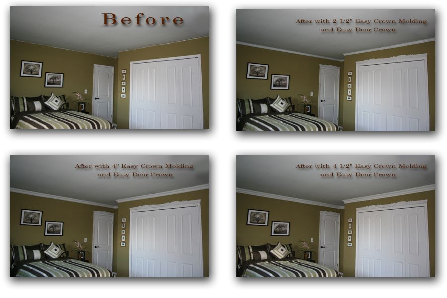 Crown Molding Gallery Before And After Pictures Crown Moulding Easy Crown Molding Crown Molding Installation Molding Installation