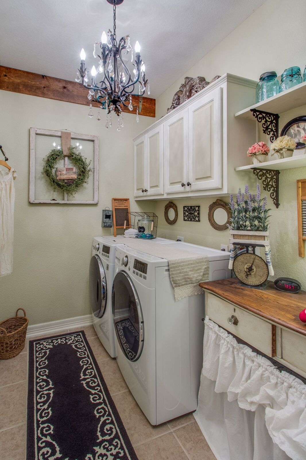 French Country Farmhouse Thru The Years Laundry Room