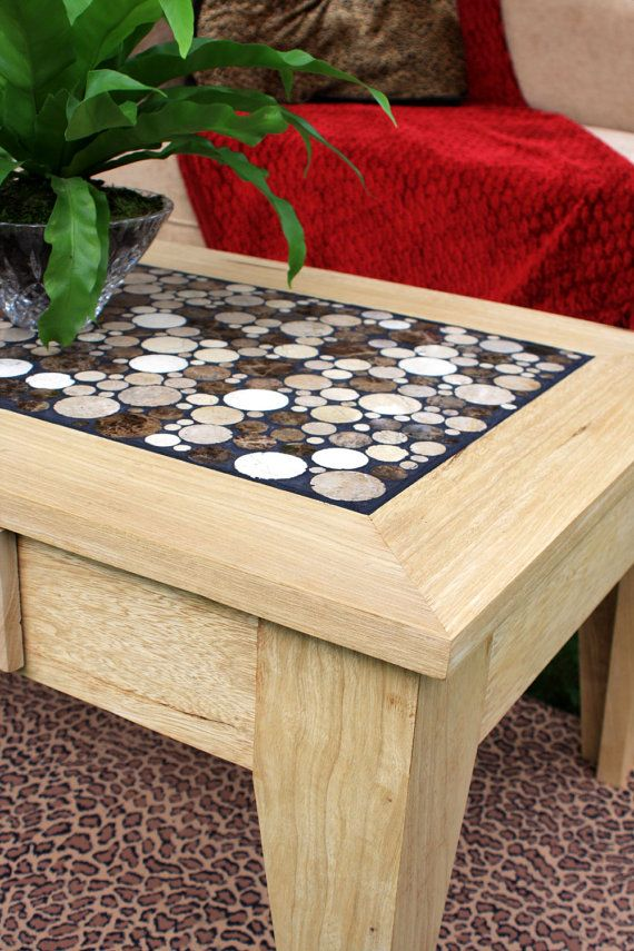 Coffee Table W Drawer Blonde Wood Coffee Table Marble Top Coffee Table Chocolate Eclipse Mosaic 40 L X 23 W X 17 T Clear Coat Finish Marble Top Coffee Table Marble Tiles Blonde Wood