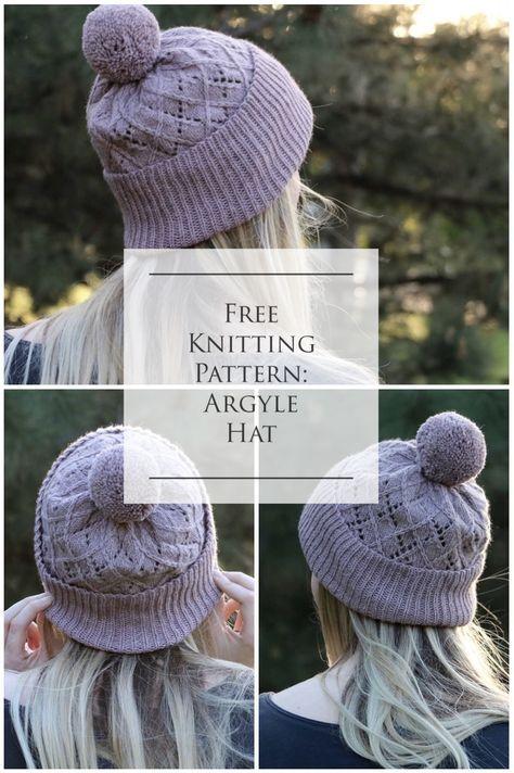 Argyle Hat Knitting Pattern In 2018 Knitting Pinterest