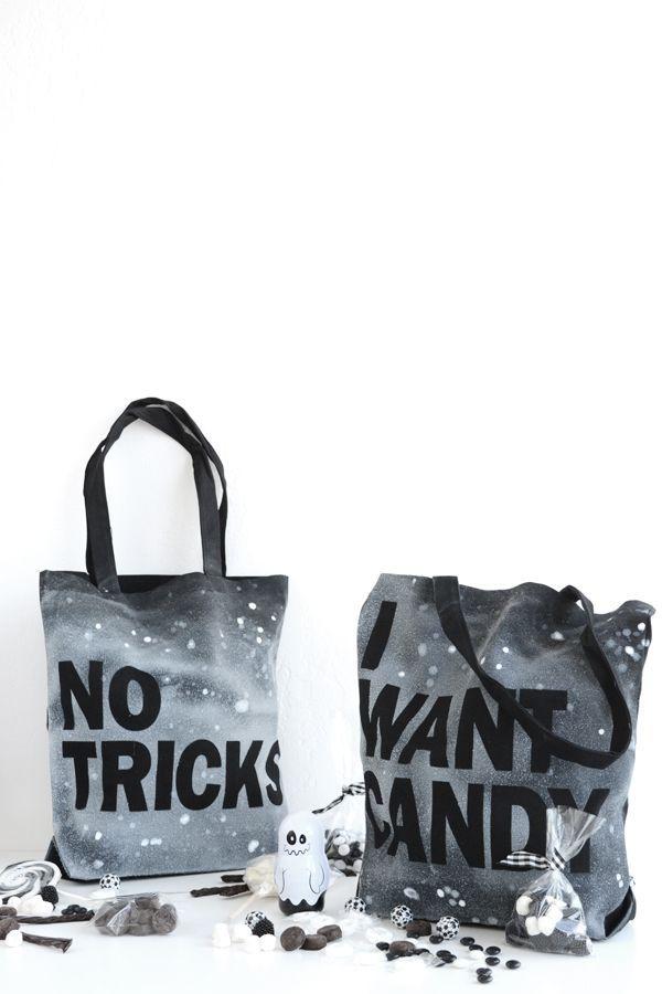 DIY Sassy Trick or Treat Bags Halloween Pinterest Halloween - decorate halloween bags