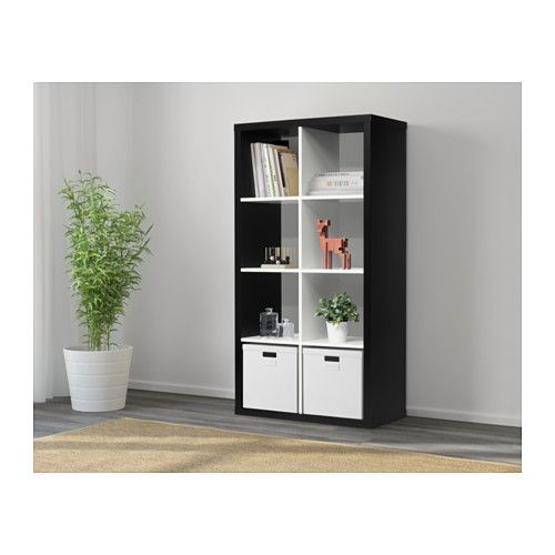 Kallax Shelf Unit Black White Home Inspiration In 2019