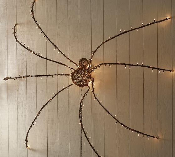 Lit Twig Oversized Spider Halloween Pinterest Spider, Lights - giant spider halloween decoration
