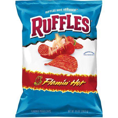 Buy Ruffles Flamin Hot Potato Chips 85 Oz Bag At Walmartcom