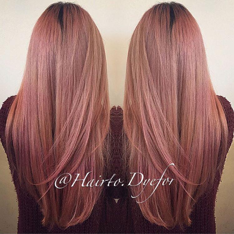 D U S T Y R O E Subtil Wella Rosegold Hair Color Pink