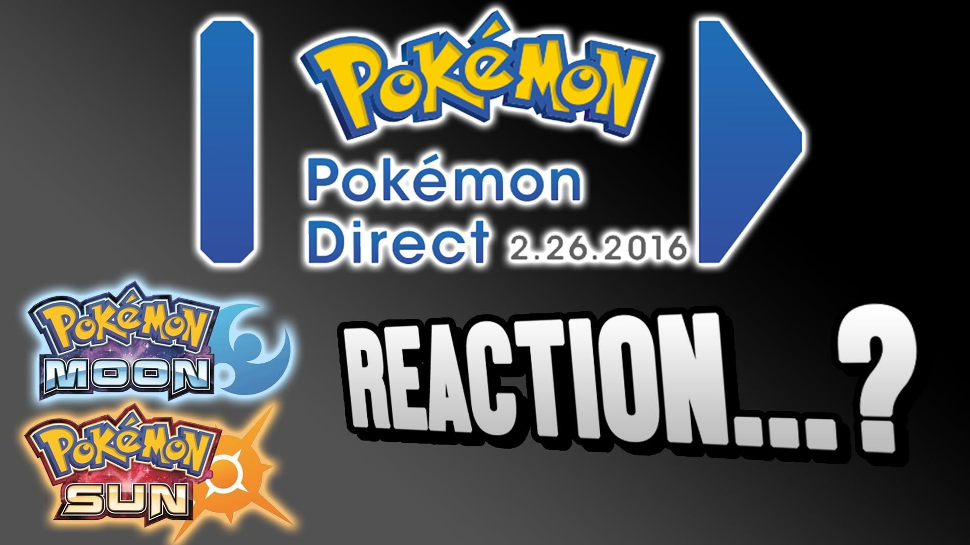 Nintendo Direct: Pokemon Sun and Moon Version Announcement Reaction!  I ...