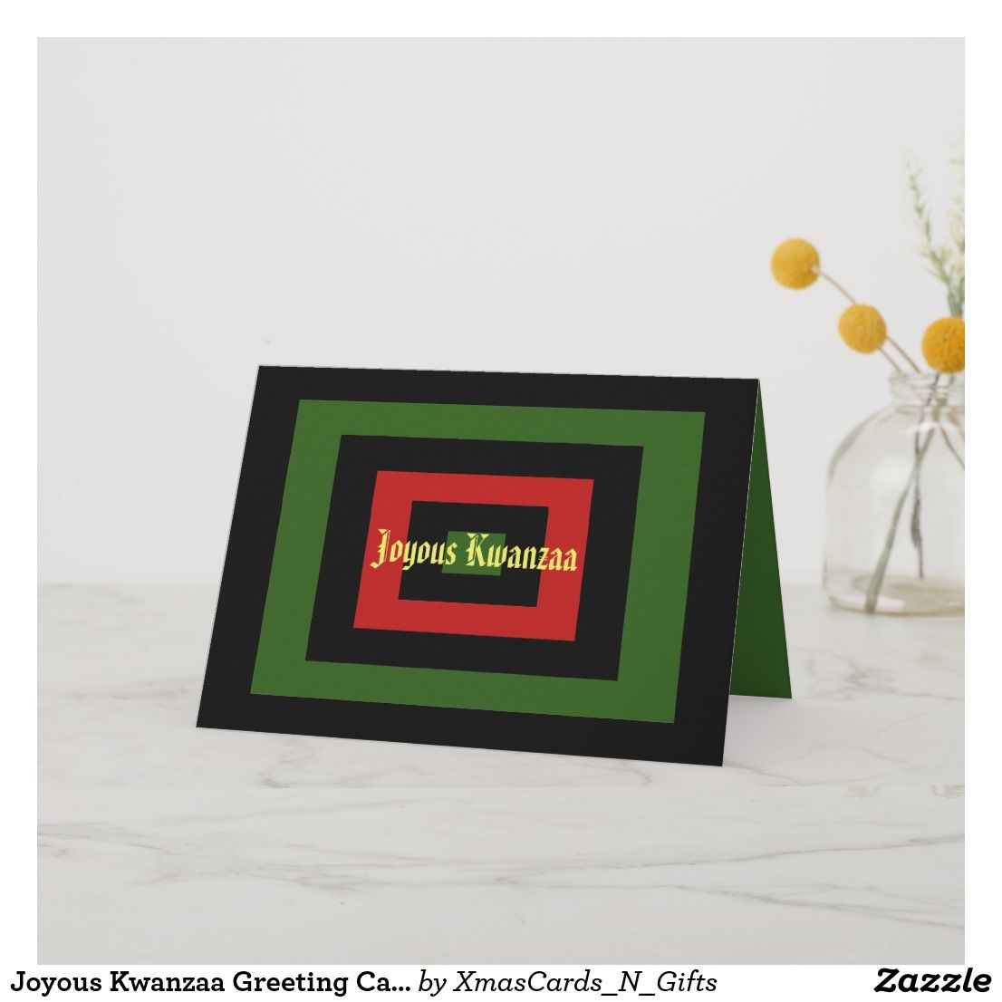 Joyous Kwanzaa Greeting Card