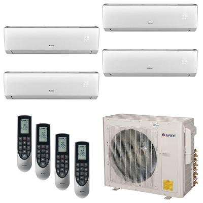 Gree Multi 21 Zone 34000 Btu 3 0 Ton Ductless Mini Split Air Conditioner With Heat Inverter Remote 230 Volt 60hz Multi36hp400 Ductless Mini Split Ductless Ductless Air Conditioner