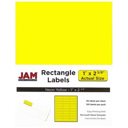 JAM Paper Labels, Mailing Address Labels, Small (1 inch x 2 5/8 inch