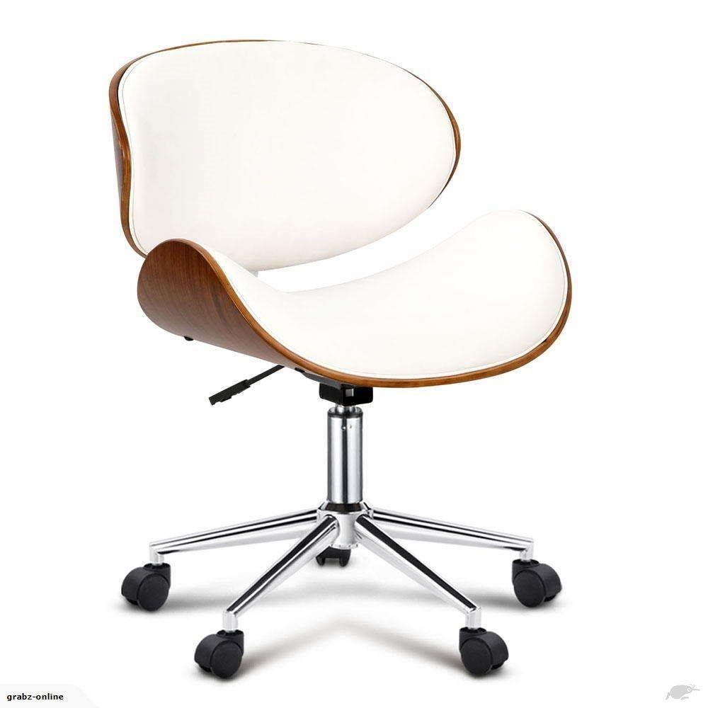 wooden pu leather office desk chair white trade me trademe rh pinterest com