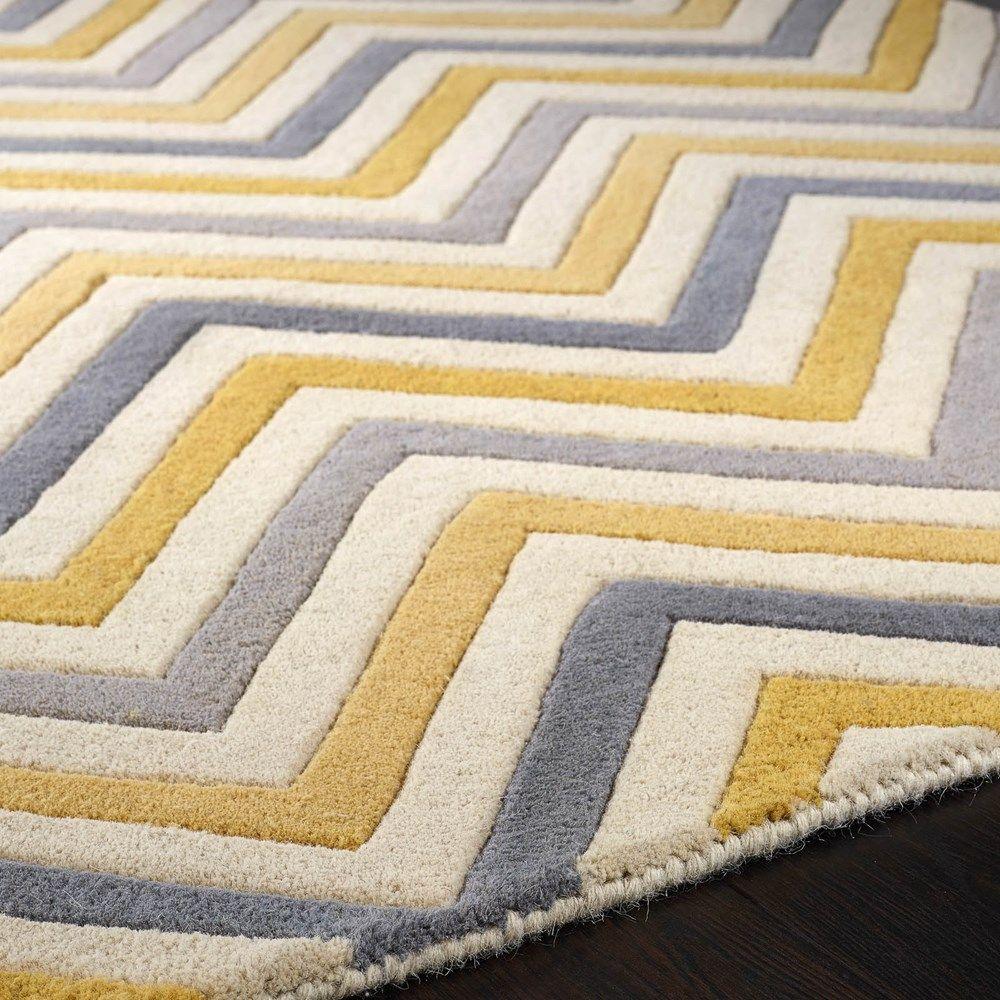 Cabone Wool Rugs In Yellow60x120cm 3 9 X1 Haymc