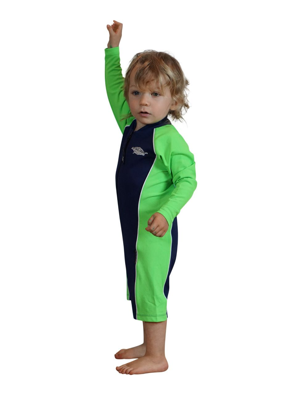 17f388c59d060 Solartex Sun Gear - Baby / Toddler Girls UV Swimsuits - Long Sleeves - Stingray-