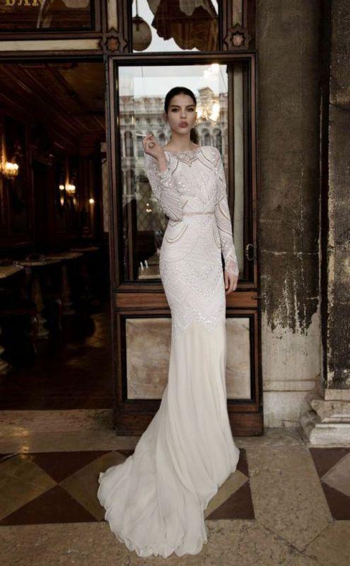 54ee8a0e898 25 Breathtaking Gatsby Glam Wedding Dresses