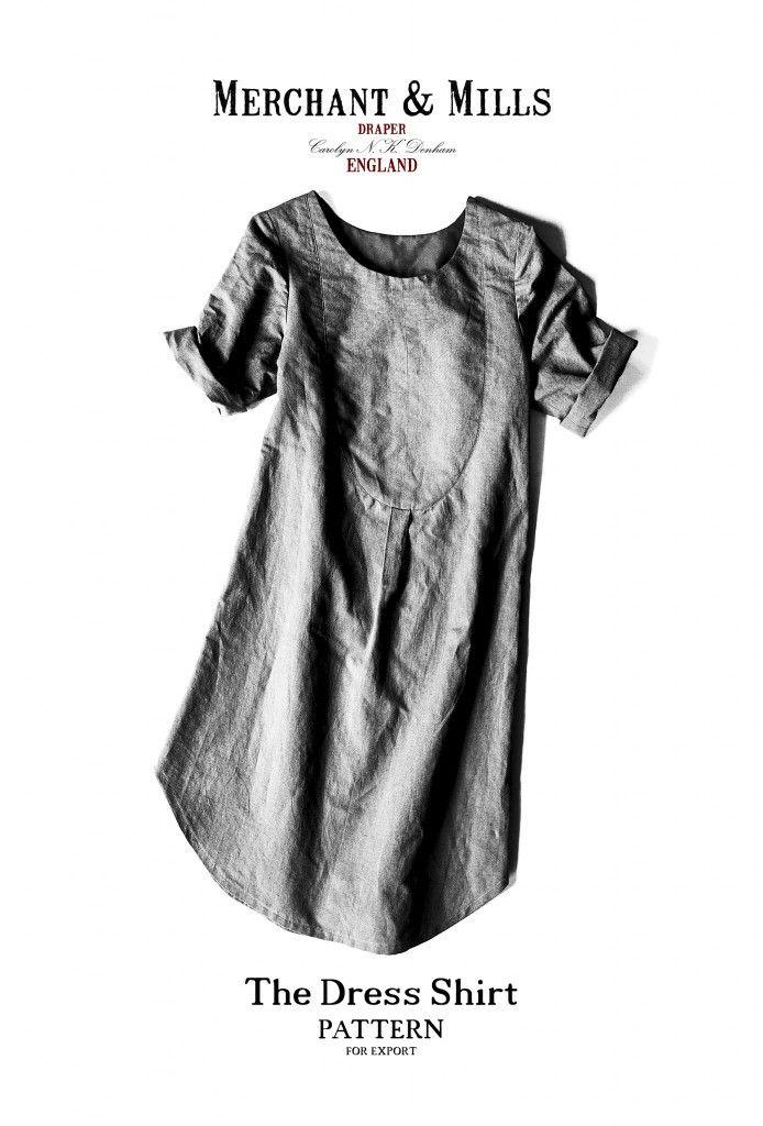 The Dress Shirt | Merchant & Mills | Patterns | Pinterest