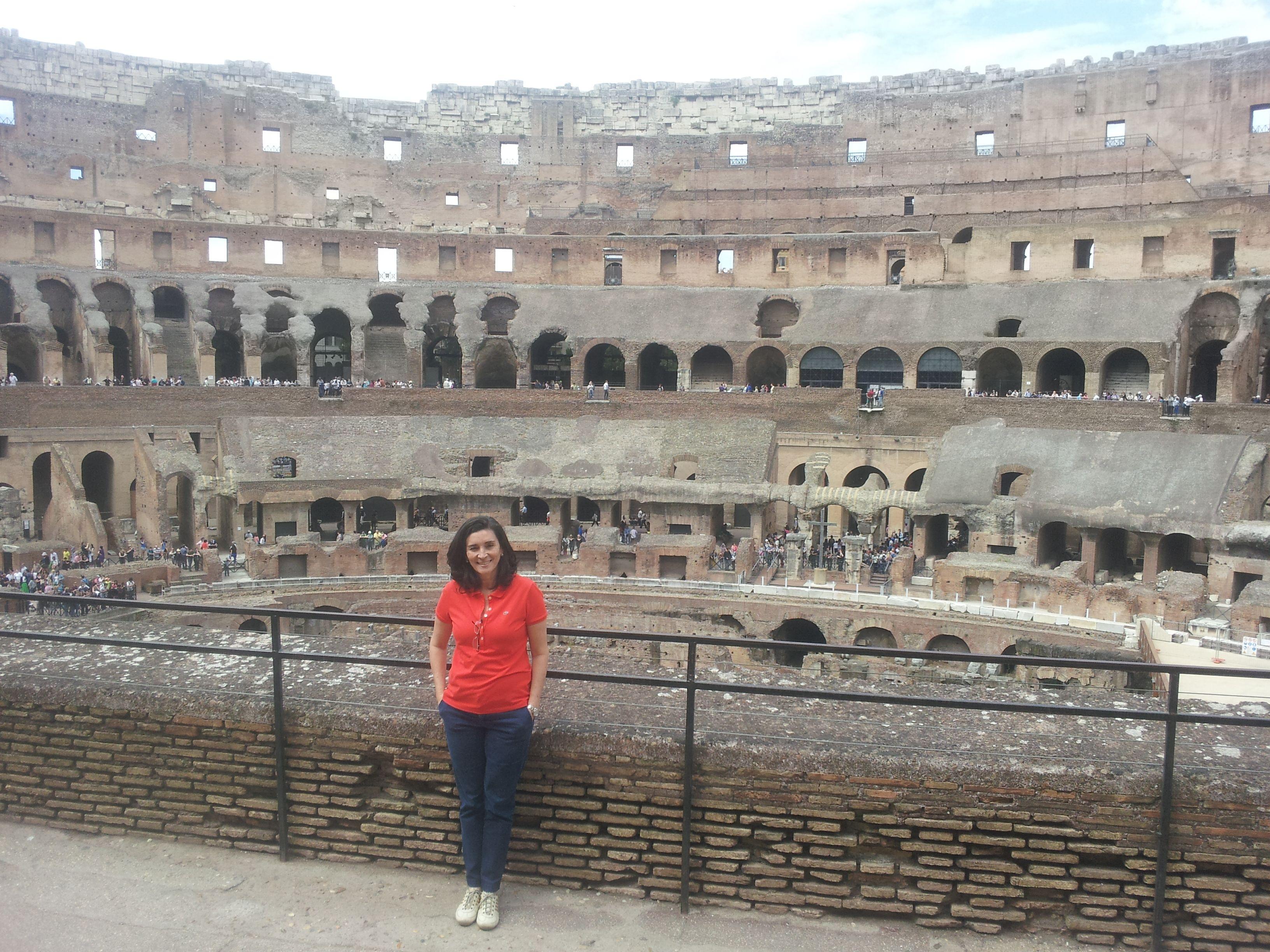 O fantástico Colosseo, Roma ,Rose Ramalho , na Itáia
