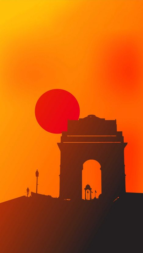 India Gate Sunset iPhone Wallpaper Free GetintoPik in