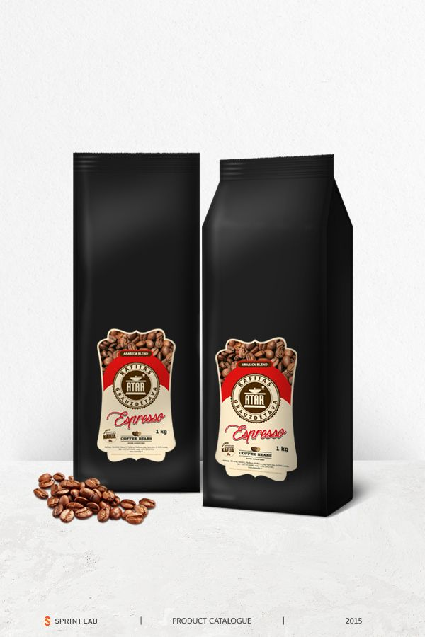 Rich and elegant espresso coffee beans package design made ...