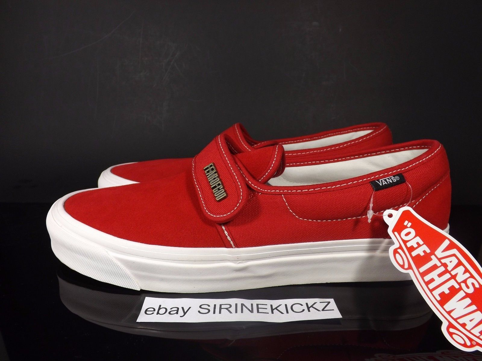 c494a9d424 Fear of God x Vans Vault Slip On Strap 47 V DX - Red Red size 10 US 9 UK