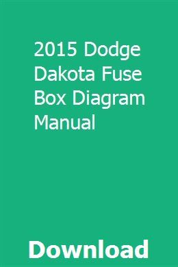 2015 Dodge Dakota Fuse Box Diagram Manual | Polaris ranger ...