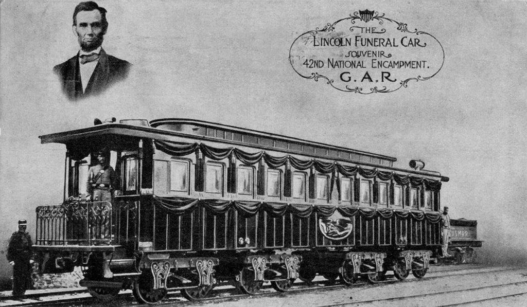 Lincoln Funeral Railroad Car Albany Ny 1865 1860s Civil War Pics