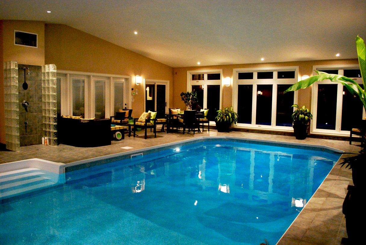 Stylish And Elegant Indoor Swimming Pool Design Ideas