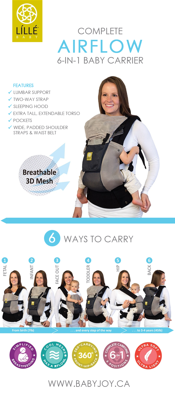 9d91e993eb4 Summer must-have for new parents! Lillebaby Complete Airflow 6-in-1 Baby  Carrier.