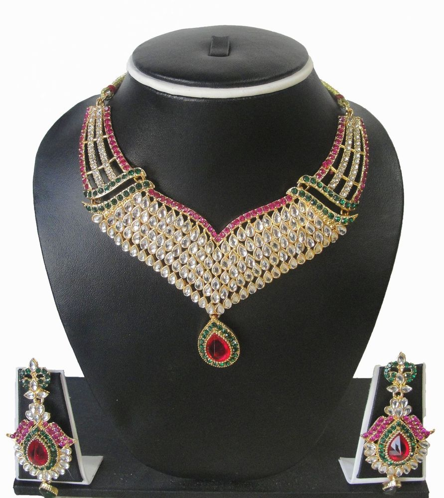 Beautiful Jewelry Set Necklace Indian  BY ZAVERI PEARLS - ZPFL050507 #ZAVERIPEARLS