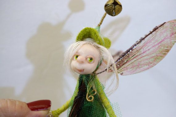 ooak poseable tinkle bell PIXIE fairy  4  polymer by DinkyDarlings