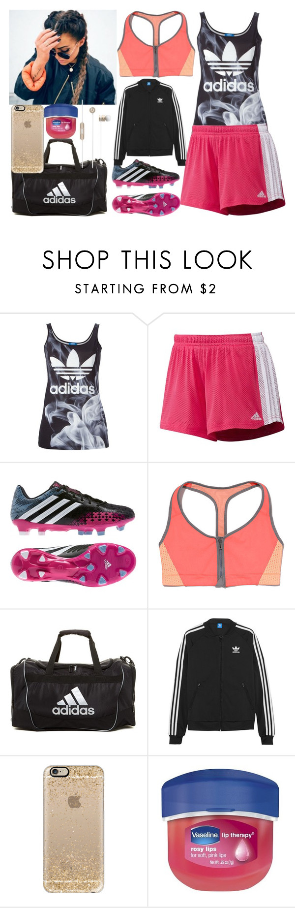 """""""Untitled #3145"""" by nicole-briffa ❤ liked on Polyvore featuring adidas Originals, adidas, Victoria's Secret, Casetify, Therapy, Beats by Dr. Dre, women's clothing, women's fashion, women and female"""