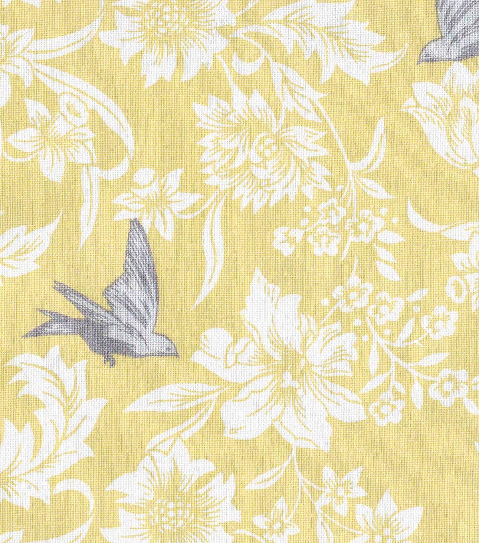yellow home decor fabric