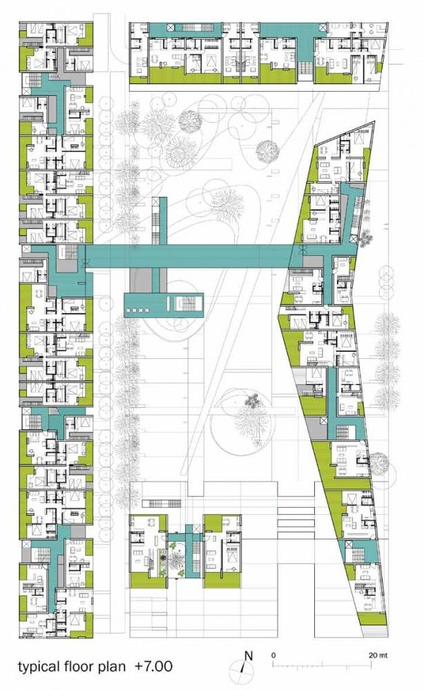 Gallery Of A101 Urban Block Competition Proposal B4 Architects 8 Hotel Floor Plan How To Plan Architect